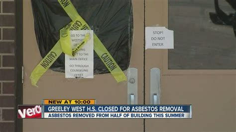 greeley west high school closed  asbestos removal youtube