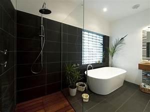 Salle de bain ardoise naturelle et chic for Aussie bathrooms