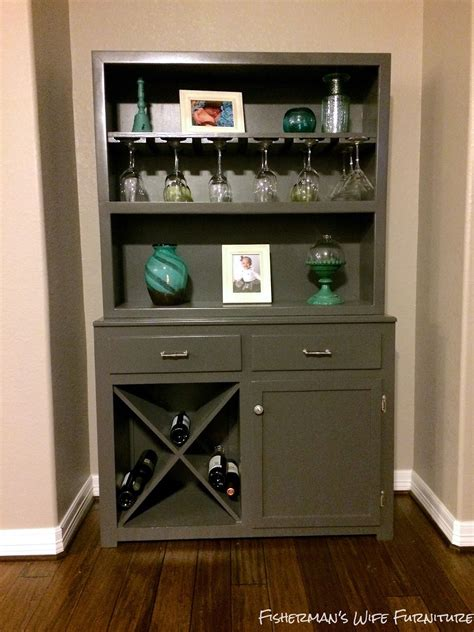 Bar Makeover by Fisherman S Furniture Hutch To Wine Bar Makeover