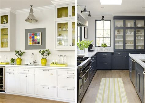Gorgeous Gray Kitchen With Yellow Accents