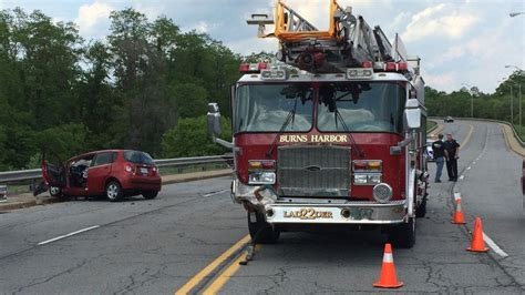 Crash involving Burns Harbor fire truck caused by second ...
