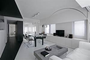 black and white apartment design room 407 project in With meuble pour petit appartement 10 idee decoration salon gris blanc et bleu deco maison moderne
