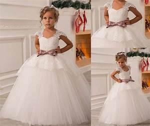Robe De Demoiselle D Honneur Fille : appliques ceinture robe de communion fille mariage robe ~ Mglfilm.com Idées de Décoration