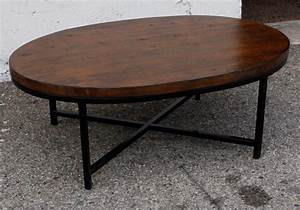 Retro oval coffee table coffee table design ideas for Round or oval coffee tables