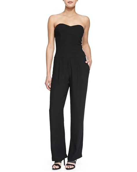 strapless jumpsuit cynthia vincent strapless pleated length jumpsuit in