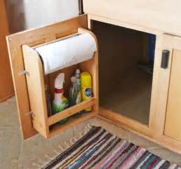 How To Make Rv Cabinets by Rv Cabinet Storage Door With Paper Towel Holder And Shelf