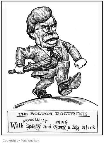 John Bolton Political Cartoon