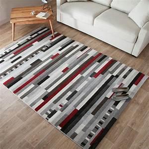 tapis noir et blanc pas cher idees de decoration With tapis blanc pas cher