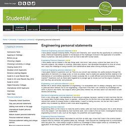 Engineering Personal Statement Engineering Personal Statement Oxford