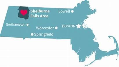Massachusetts Shelburne Towns Falls Map Area Welcome