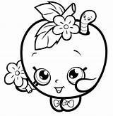 Apple Coloring Pages Fruit Shopkins Hopkins Blossom Printable из все раскраски категории sketch template