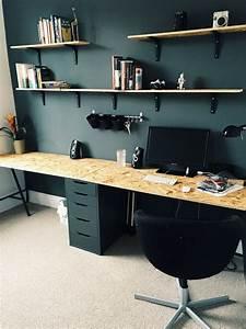 Planche Bureau Ikea : deux planche d 39 osb et des caissons ikea et voil un norme ~ Dallasstarsshop.com Idées de Décoration