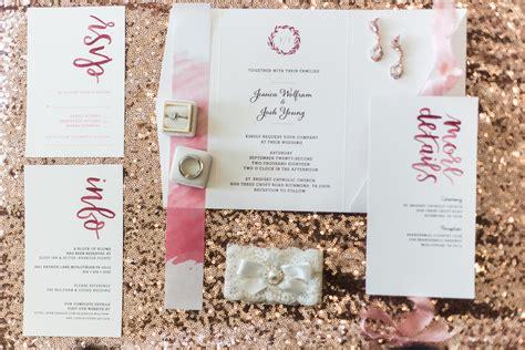 Romantic Rose Gold and Burgundy Wedding Magnetstreet
