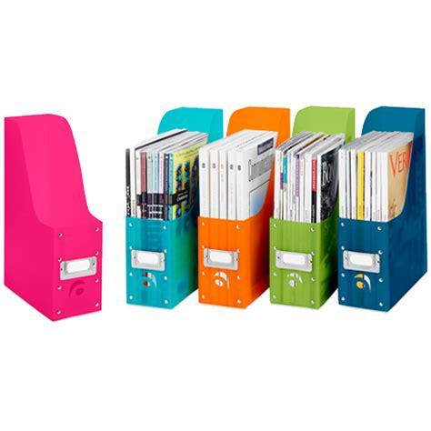 Zeitschriften Aufbewahrung by Colorful Plastic Magazine Organizers Set Of 5 In