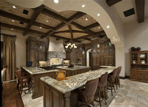 walnut kitchen island 35 luxury mediterranean kitchens design ideas