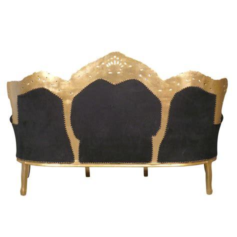 canapé style baroque pas cher canapé baroque noir et or meuble baroque