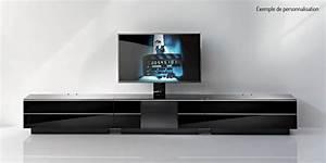 Support Tv 65 Pouces : ultimate gs180 noir meubles tv ultimate sur easylounge ~ Dailycaller-alerts.com Idées de Décoration