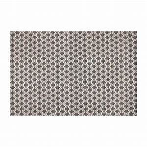 Schwarz Weißer Teppich : lana teppich 170x240 cm aus schwarzer und wei er wolle gewebt habitat ~ Orissabook.com Haus und Dekorationen