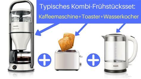 Kaffeemaschine Mit Toaster Und Wasserkocher by Fr 252 Hst 252 Cksset Kaffeemaschine Toaster Wasserkocher In Einem