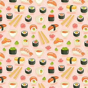 Sushi and rolls fabric - stolenpencil - Spoonflower