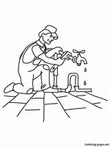 Plumber Coloring Pages Drawing Printable Career Anyone Loves sketch template