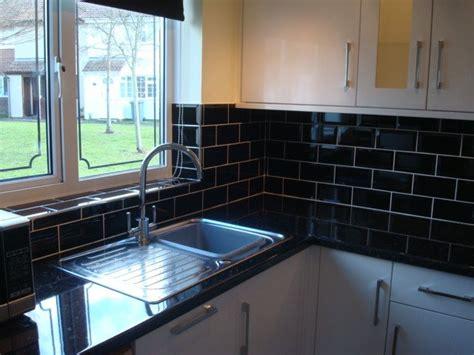 white kitchen black tiles black tiles white kitchens felixstowe cotterell carpentry 1328