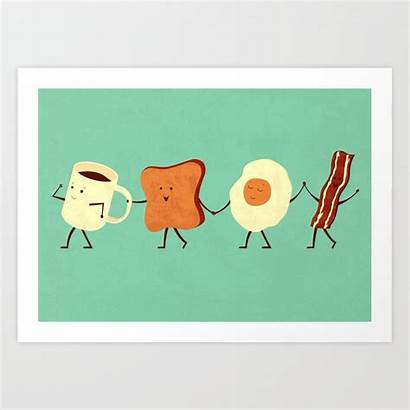 Breakfast Let Prints Society6 Graphic Artwork Teozirinis
