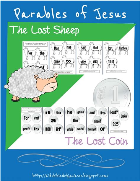 bible for of jesus list of lessons amp links 804 | Lost Sheep & Coin button