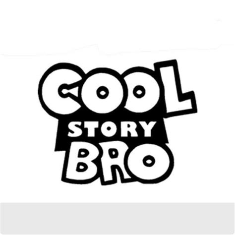cool vinyl stickers cool story bro vinyl sticker sykvinyls com