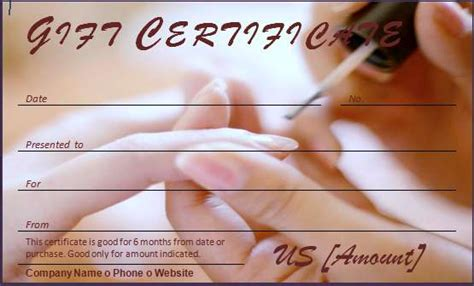 Free Pedicure Gift Certificate Template by 40 Gift Certificates Templates For Any Occasion