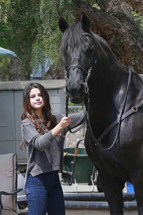selena gomez horseback riding april