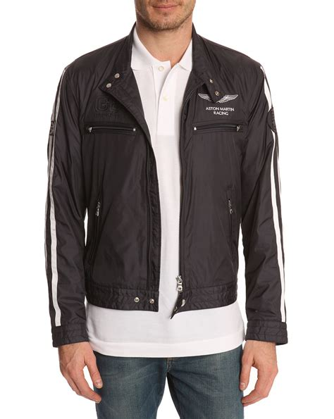 hackett aston martin racing apex navy jacket  blue