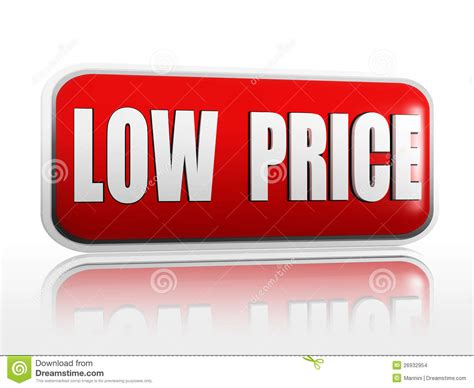 Price Of by Low Price Banner Stock Images Image 26932954