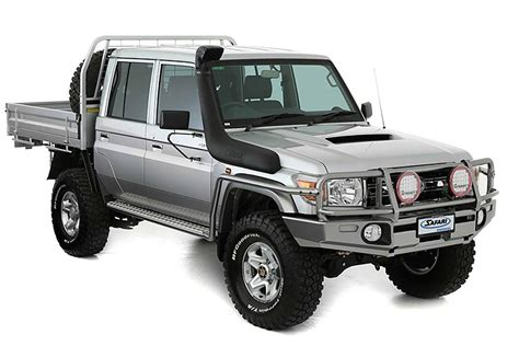 The 2021 toyota landcruiser 70 series carries a braked towing capacity of up to 3500 kg, but check to ensure this applies to the configuration you're considering. Safari Snorkel Armax - Toyota Landcruiser 70 Series (3 ...