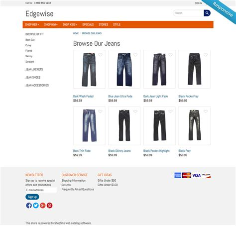 Shopsite Templates by Shopsite Built In Edgewise Template