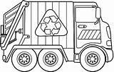 Coloring Garbage Truck sketch template