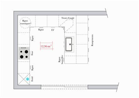 plan de travail cuisine 3m50 plans de cuisines ouvertes ce dernier est connect a une