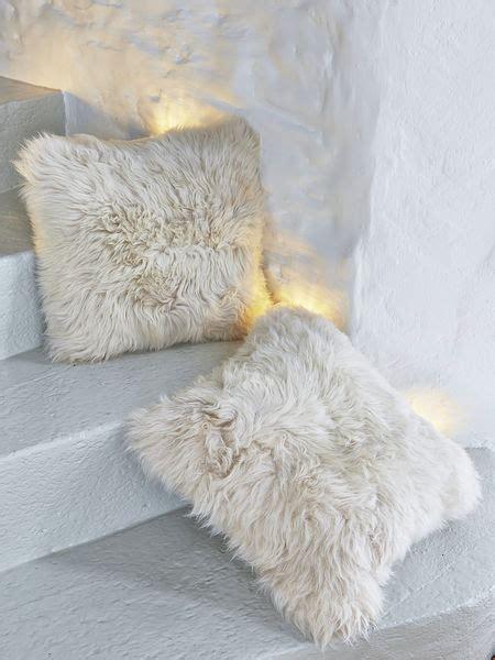 luxurious linen sheepskin cushion linen colour sheepskin