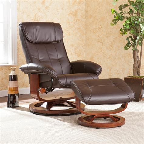 modern leather recliner recliner with ottoman leather modern house plan and