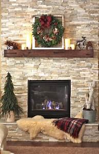 Rustic, Fireplace, Decor
