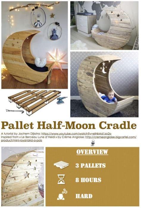 diy  pallet  moon cradle  pallets