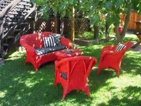 Painting Rattan Furniture Outdoor Use