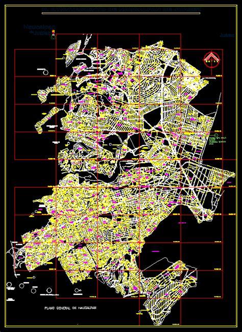 map naucalpan edo  mexico mexico dwg full project