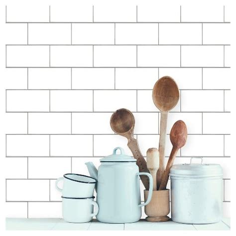 peel and stick subway tile wallpaper color textured subway tile peel stick w target