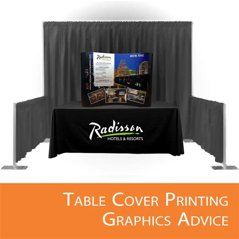 custom table covers with logo table cover printing graphics advice affordable exhibit