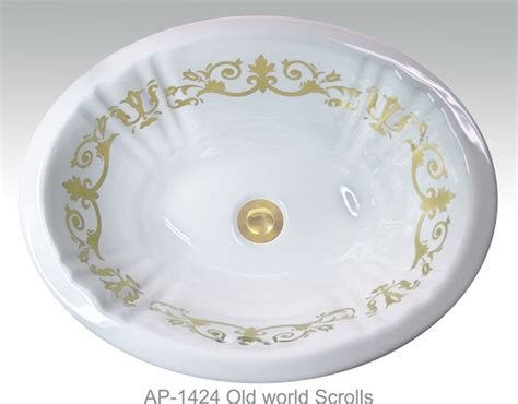 hand painted bathroom sinks hand painted undermounts by atlantis porcelain