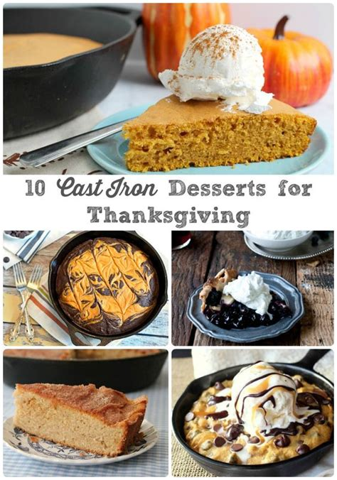 iron skillet desserts dessert recipes recipes for thanksgiving and cast iron skillet on pinterest