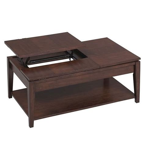 Such a table also allows you to work while charging your device. 877 Series Double Lift Top Cocktail Table Catnapper   Furniture Cart