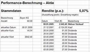 Rendite Fonds Berechnen : performance berechnung aktien b rse zertifikate wirtschaft nachrichten ~ Themetempest.com Abrechnung