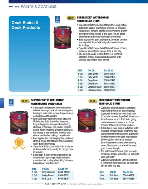 superdeck stain drying time contractor catalog 2015 by sherwin williams page 144 issuu